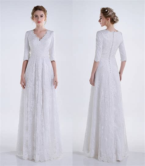 Discount Modest Wedding Dresses by Modest Wedding Dresses Lace Sleeves Discount