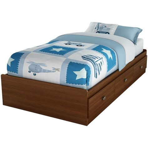twin size bed with drawers twin size cherry finish platform bed with 3 storage