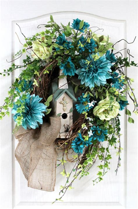 Summer Front Door Wreaths 377 Best Birdhouse Wreaths Images On Summer Wreath Wreaths And Swags
