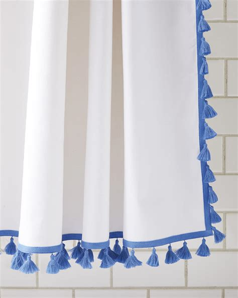 french tassel shower curtain serena lily