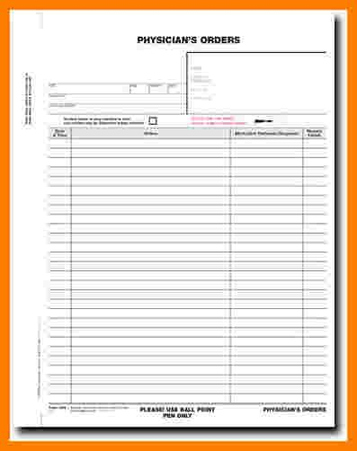 9 physician order sheet template ledger review