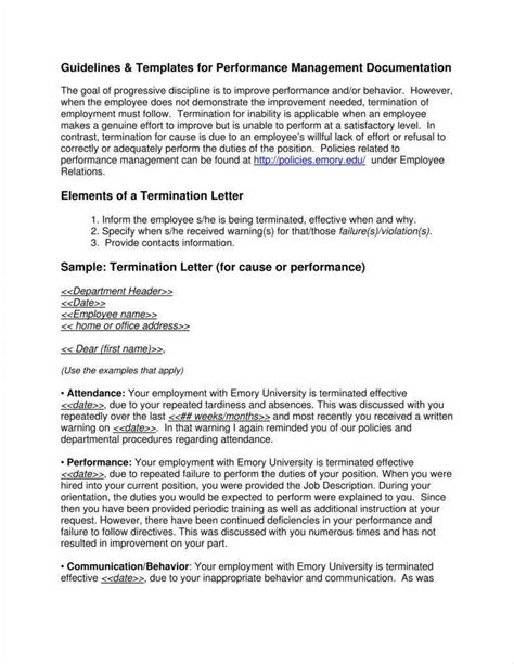 company termination letters samples examples
