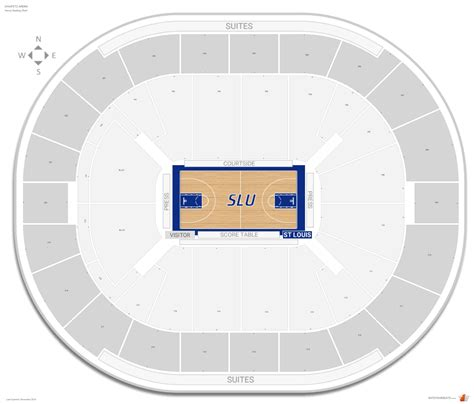 chaifetz arena seating chaifetz arena louis seating guide rateyourseats