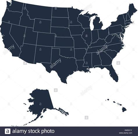 usa map with hawaii and alaska united states map alaska and hawaii stock photos united