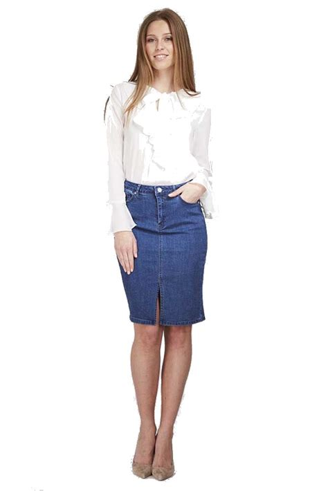 denim pencil skirt dress