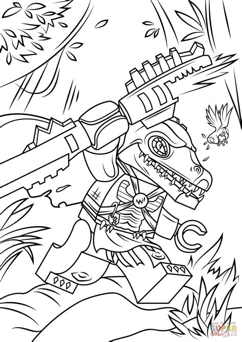 lego chima cragger coloring page free printable coloring