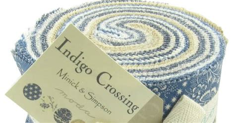 Pelenna Patchworks - pelenna patchworks moda indigo crossing jelly roll and