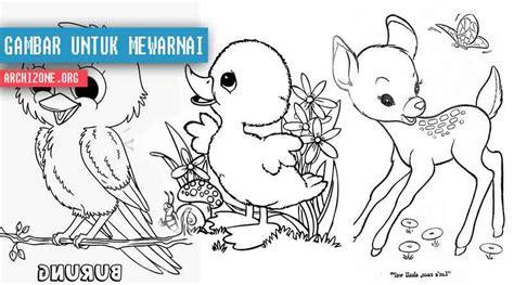 tutorial gambar hewan untuk anak contoh gambar desain untuk mewarnai anak anak gambar