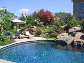 Backyard Pool Landscaping Backyard Swimming Pools Waterfalls Landscaping Nj
