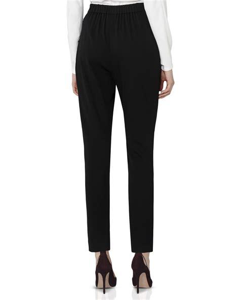 draped pants reiss harrie high waist draped pants in black lyst