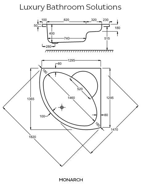 corner bathtub dimensions standard monarch luxury designer carron 1300 acrylic corner bath