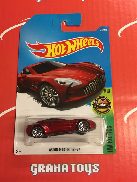 Aston Martin Merah 2017 Hotwheels Berkualitas aston martin one 77 200 2017 wheels j ebay