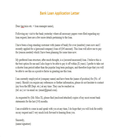 application letter in bank application letter sle in a bank