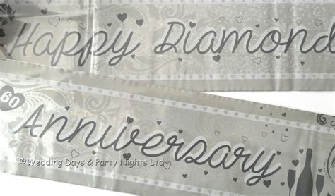 9ft Holographic Happy Diamond 60th Wedding Anniversary