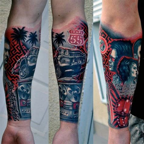 automotive tattoo sleeve 70 car tattoos for men cool automotive design ideas