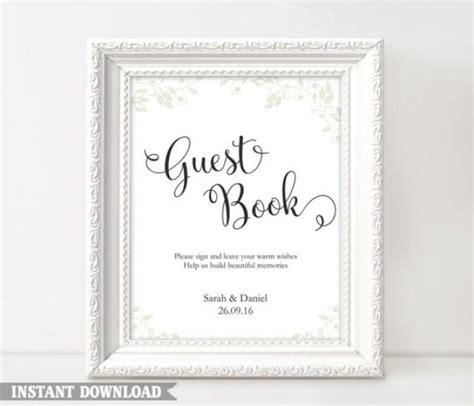 Wedding Guestbook 6 guest book sign wedding guest book sign printable guest
