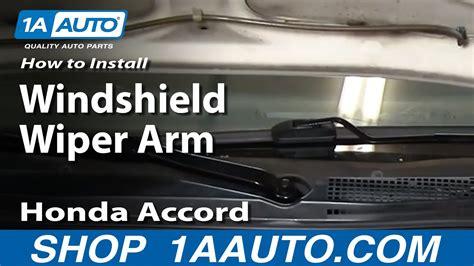 replace windshield wiper arm   honda accord