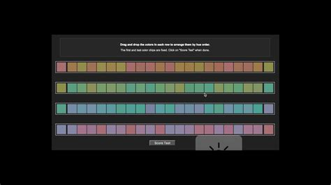 color hue test munsell hue test let s play
