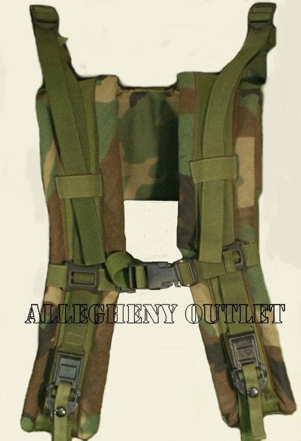 molle pack shoulder straps molle ii frame shoulder straps with release woodland