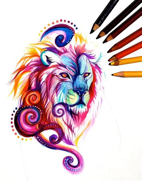 three lions tattoo designs king of the lions my newest painting is available in my