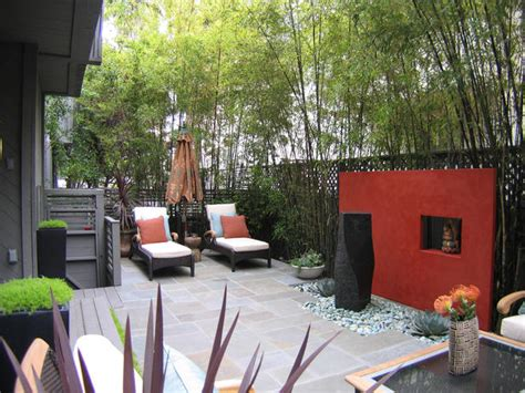 outdoor garden rooms pictures contemporary outdoor space with accent wall hgtv