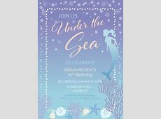 Printable Mermaid Birthday Party Invitation Template Free Clipart Of Valentine's Day