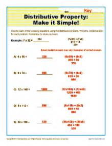 distributive property make it simple 3rd grade math