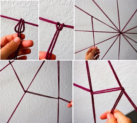 How To Make A Paper Web - yarn spider web made everyday