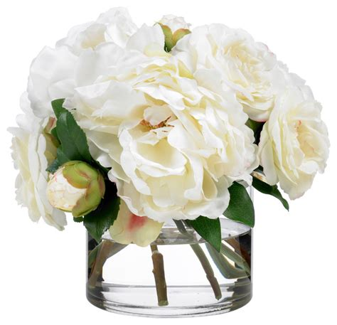 diane james creamy camellias and peonies contemporary