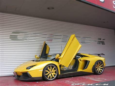 yellow lamborghini aventador tuningcars yellow lamborghini aventador roadster by office k
