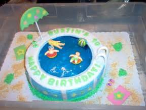 Pool Cake Decorations Pool Party Cakes Decoration Ideas Little Birthday Cakes