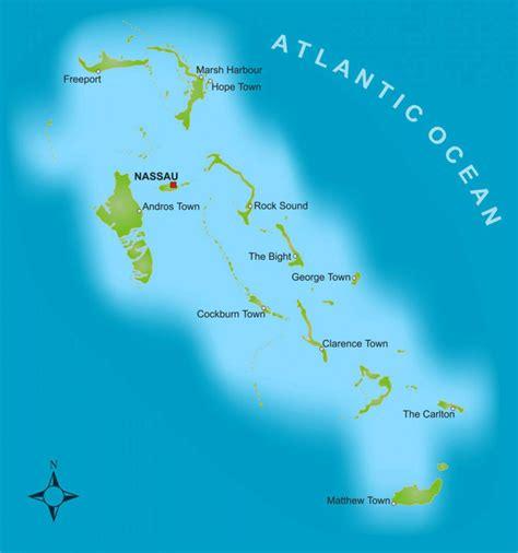 bahamas on map bahamas sle itinerary sailing vacations yacht charters
