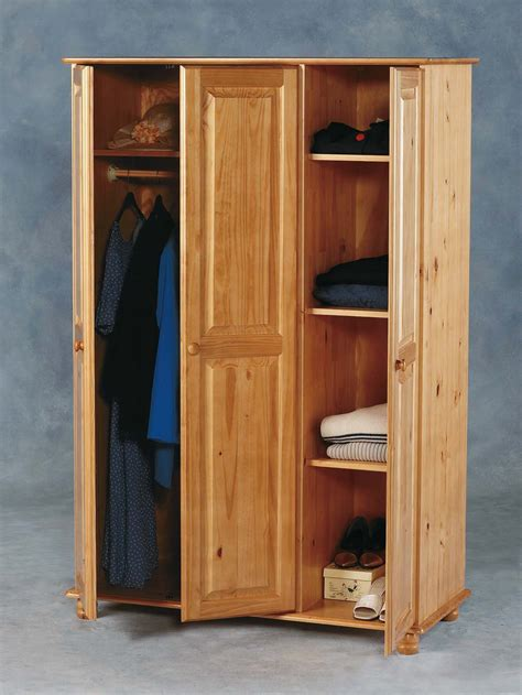 armoire melbourne sol pine 3 door wardrobe flat pack 163 219 00 tbs