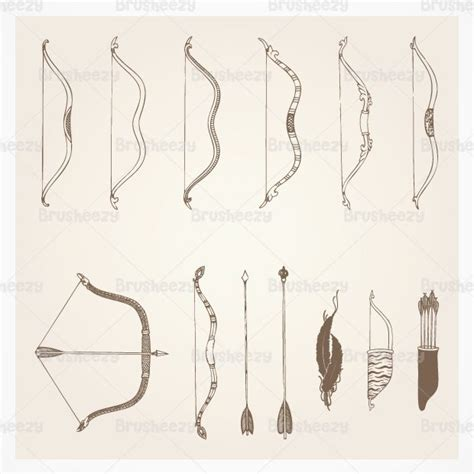 arrow pattern brush photoshop hand drawn bows and arrows brushes free photoshop