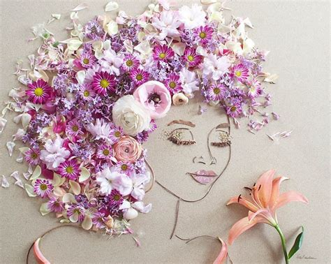 Justina Blakeney by I Balance Twigs And Flowers To Create Intricate Portraits