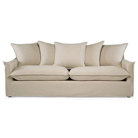 slipcovered 85 quot sofa jcpenney for the home
