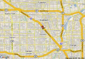 map of travelodge anaheim anaheim