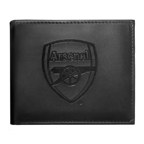 arsenal official arsenal fc mens official embossed crest wallet football