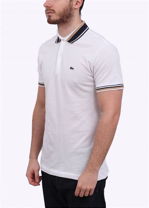 Vans Polo Shirt Kaos Collar Lacoste lacoste detailed collar polo shirt white