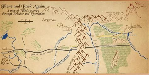 the hobbit interactive map the hobbit chapter by chapter map thinglink