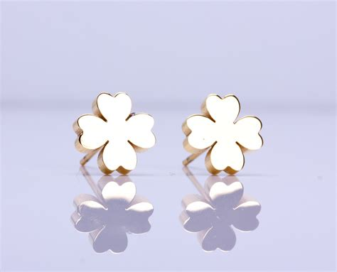 Clover Earring four leaf clover earrings studs best 4 leaf clover four