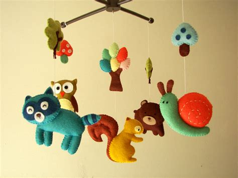 Animal Crib Mobile by Baby Crib Mobile Forest Mobile Animal Mobile Felt Mobile