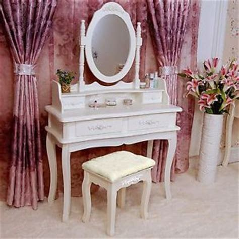 shabby chic dressing table mirror stool set vanity