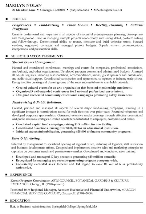 Event Coordinator Resume by Special Events Coordinator Resume Corporate Event Planner
