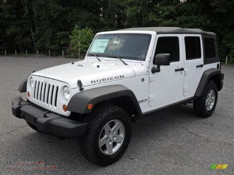 all white jeep wrangler unlimited rubicon 2012 jeep wrangler unlimited rubicon 4x4 in bright white