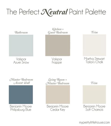 neutral blue paint colors the perfect neutral paint palette benjamin moore cedar