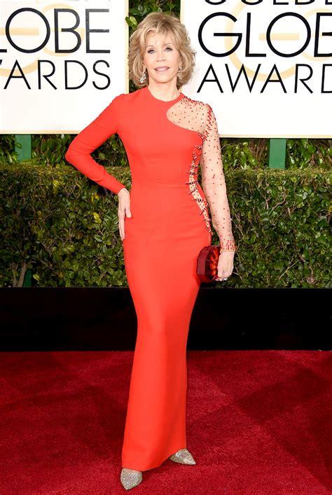 jane fonda yellow dress 2015 golden globes red carpet best worst dressed the