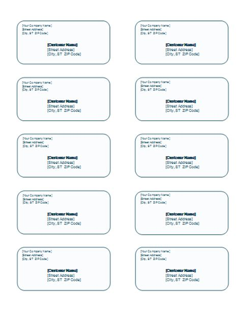 Labels Template Word printable labels templates microsoft word templates
