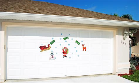 Magnetic Garage Door Decorations Magnetic Decorations For Garage Doors Ho Santa Claus With Snowflakes
