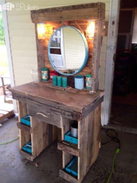 makeup vanity   reclaimed wooden pallets